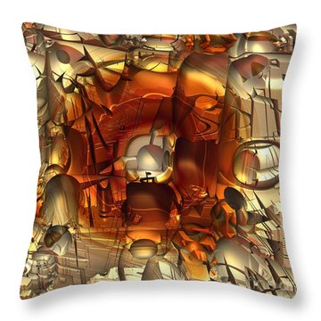 Fractal Within A Fractal Throw Pillow