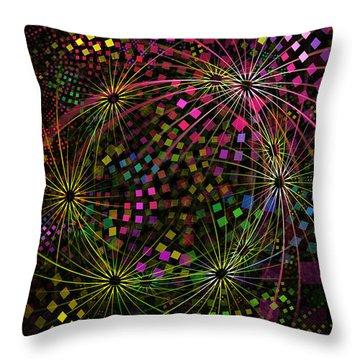 Fractalicious Tiles Throw Pillow