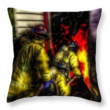 Fractalius Into The Mouth Of The Dragon Throw Pillow by Jim Lepard