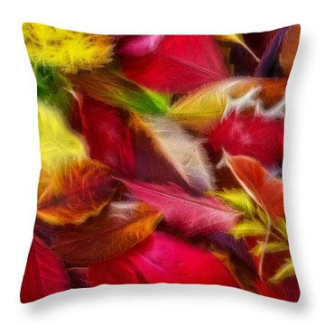 Throw Pillow featuring the photograph Fractalius Leaves by Shane Bechler