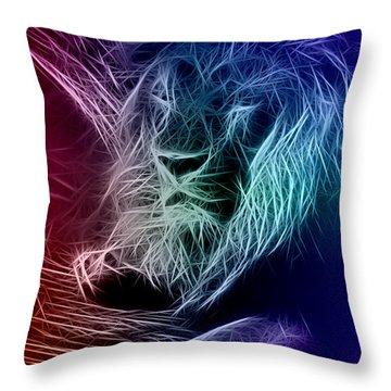 Fractalius Lion Throw Pillow