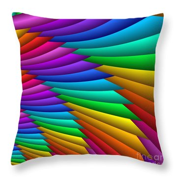 Fractalized Colors -8- Throw Pillow
