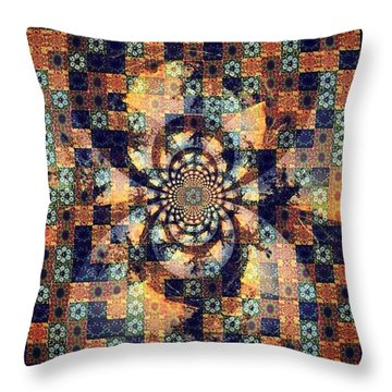 Fractals Within Fractals Within Throw Pillow