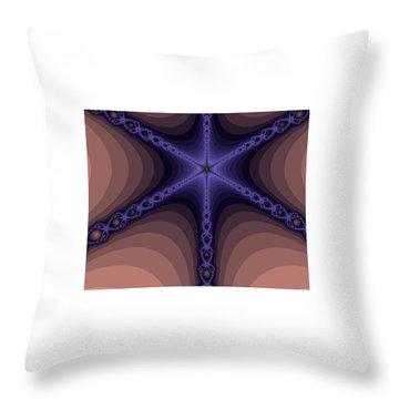 Fractals Yum Beige Throw Pillow