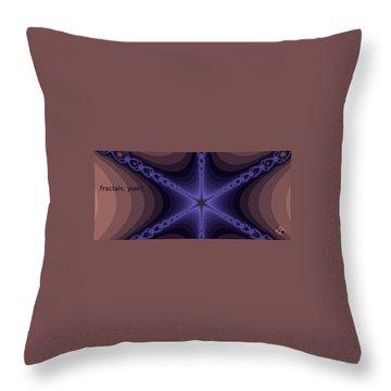 Fractals Yum Throw Pillow