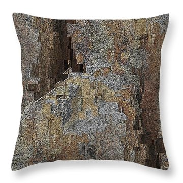 Fracture Frenzy Throw Pillow by Tim Allen