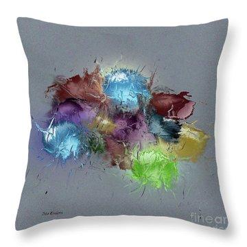 Throw Pillow featuring the digital art Fractured Bouqet 1 Pc by John Krakora