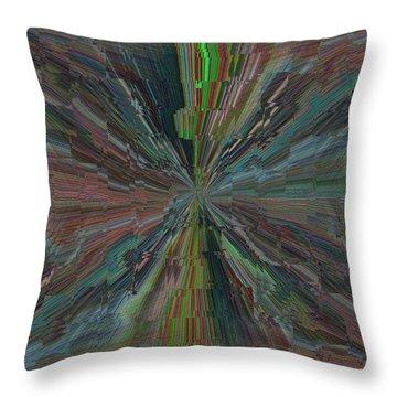 Fractured Frenzy Throw Pillow by Tim Allen