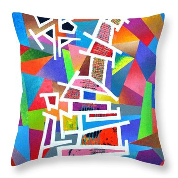 Fractured Instrument Of Love Throw Pillow by Jeremy Aiyadurai