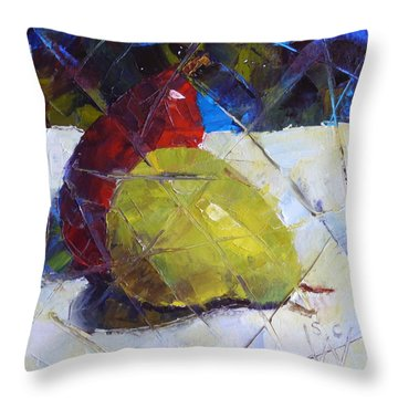 Fractured Pears Throw Pillow