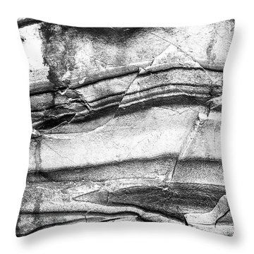 Fractured Rock Throw Pillow by Onyonet  Photo Studios
