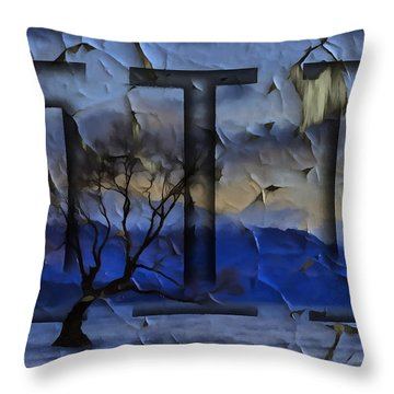 Fractured Treescape Throw Pillow