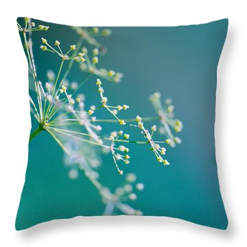 Fragile Dill Umbels Throw Pillow