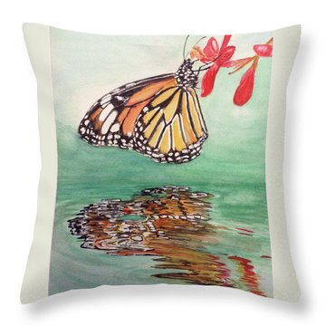 Fragile Reflection Throw Pillow