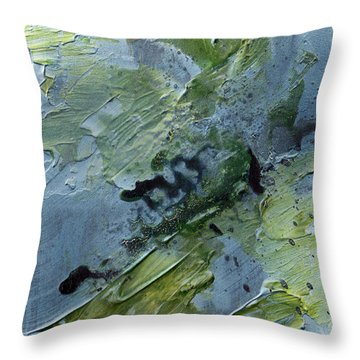 Throw Pillow featuring the painting Fragility Of Life by Rick Baldwin