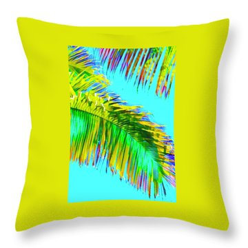 Fragment Of Coconut Palm Psychedelic Throw Pillow