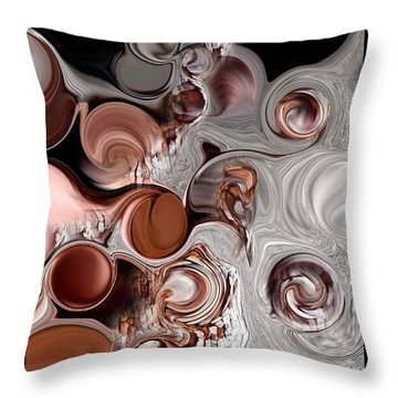 Fragment Of Modern Contrast Throw Pillow