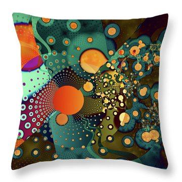 Fragmentation Throw Pillow by Frederic Durville