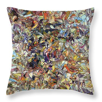 Throw Pillow featuring the painting Fragmented Horse by James W Johnson