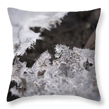 Fragmented Ice Throw Pillow
