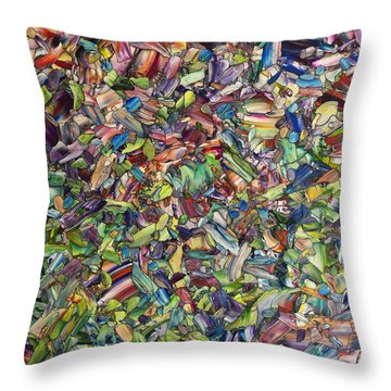 Throw Pillow featuring the painting Fragmented Spring by James W Johnson
