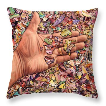 Fragmented Touch Throw Pillow