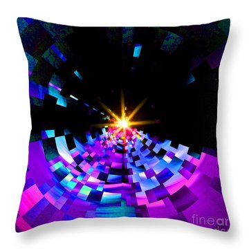 Fragmenting Into Space Throw Pillow