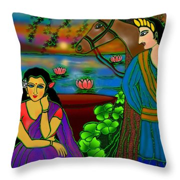 Fragrance Of Magnolias Throw Pillow by Latha Gokuldas Panicker