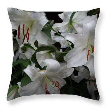 Fragrant Beauties Throw Pillow by Joanne Smoley