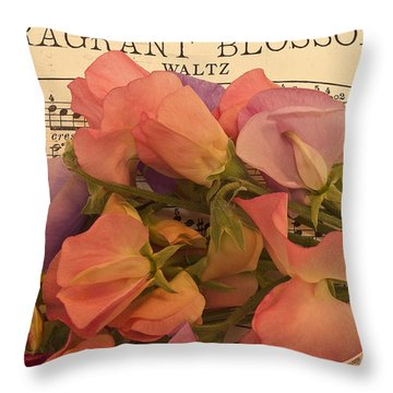 Fragrant Blossoms Throw Pillow by Sandra Foster