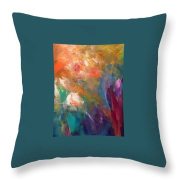 Fragrant Breeze Throw Pillow by Heather Roddy