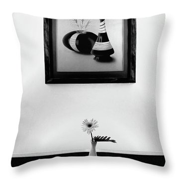 Frame And Flower Throw Pillow by Charuhas Images