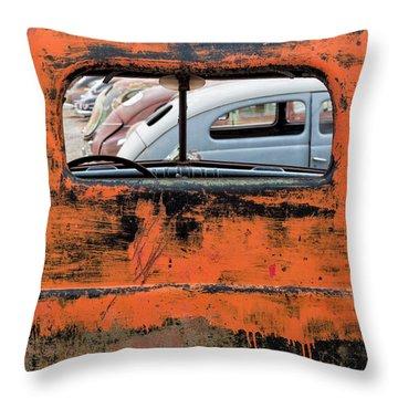 Framed Antiques Throw Pillow