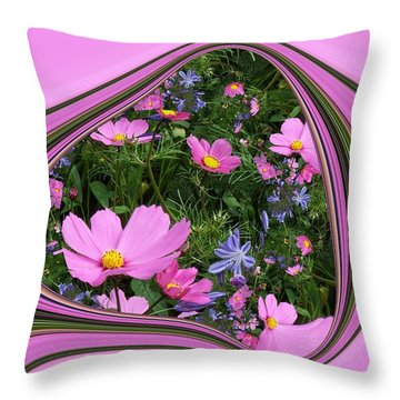 Framed Cosmos Throw Pillow