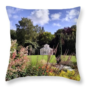 Framed Gazebo Throw Pillow