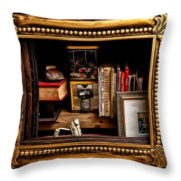 Framed Odds And Ends Throw Pillow by Christopher Holmes