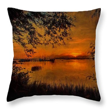 Framed Sunset Throw Pillow