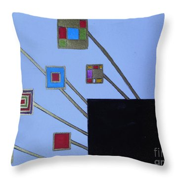 Framed World Throw Pillow