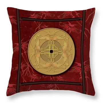 Framed Zenfly Bi Coin Throw Pillow