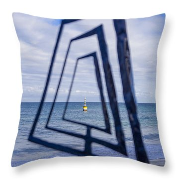 Throw Pillow featuring the photograph Framing A Sculpture by Serene Maisey