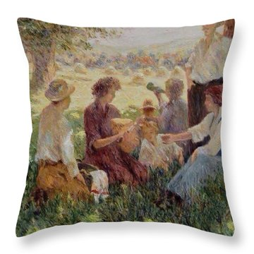 France Country Life  Throw Pillow