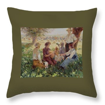 France Country Life  Throw Pillow by Pierre Van Dijk