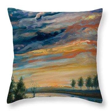 France IIi Throw Pillow by Rick Nederlof
