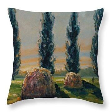 France Iv Throw Pillow by Rick Nederlof
