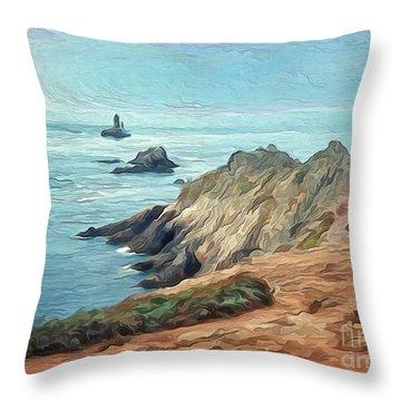 France - La Pointe Du Raz Throw Pillow