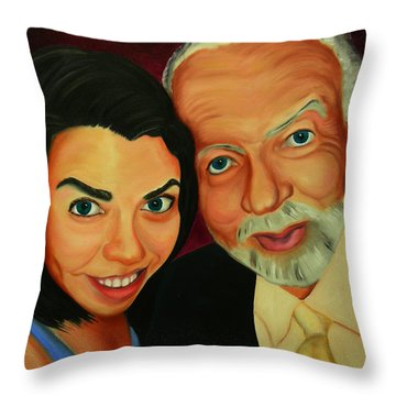 Frances And Angelo Throw Pillow
