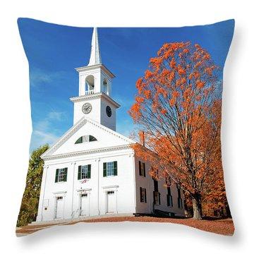 Francestown Meeting Throw Pillow