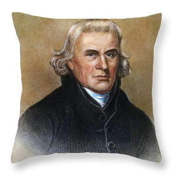 Francis Asbury (1745-1816) Throw Pillow by Granger