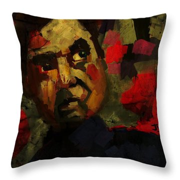 Throw Pillow featuring the digital art Francis Bacon I by Jim Vance