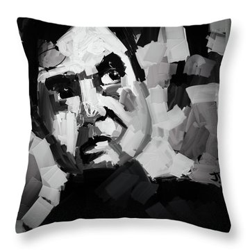 Throw Pillow featuring the digital art Francis Bacon II by Jim Vance